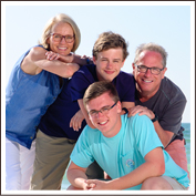 Clearwater Beach Bronze Family Session
