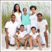 Clearwater Beach Gold Portrait Session