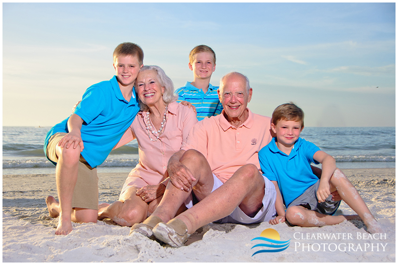 Kids with Grandparents on Clearwater Beach