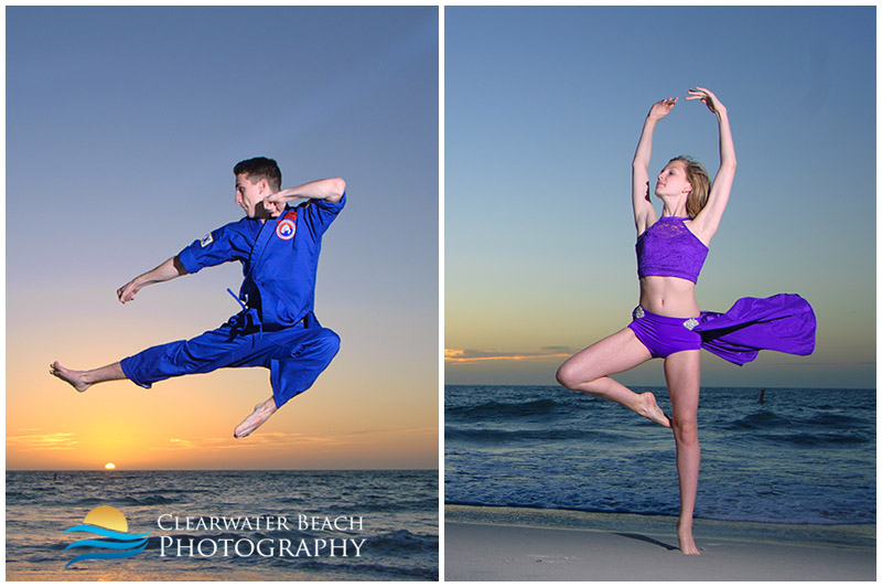 Karate and Dance Portrait on Clearwater Beach