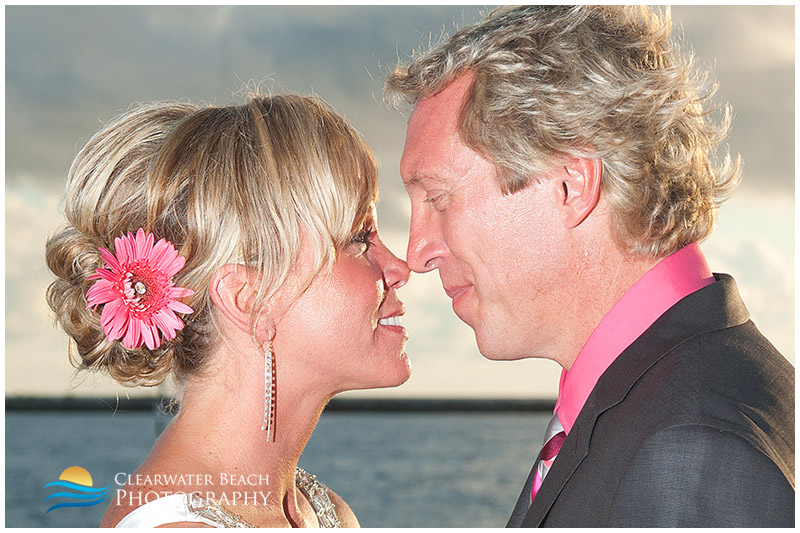 Clearwater Beach Wedding Photo of Couples noses touching