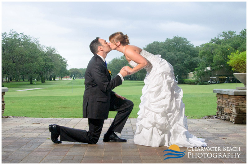 Clearwater Beach Wedding Photogrpahy of Couple at Golf Course
